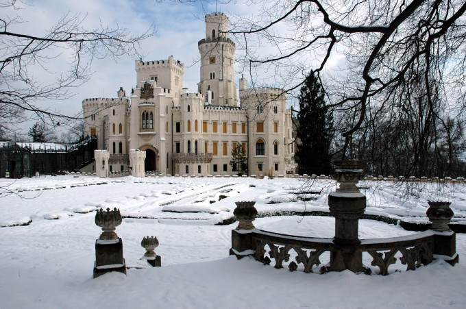 No wonder so many weddings are held in Hluboká Castle – the Castle is romantic even in winter.