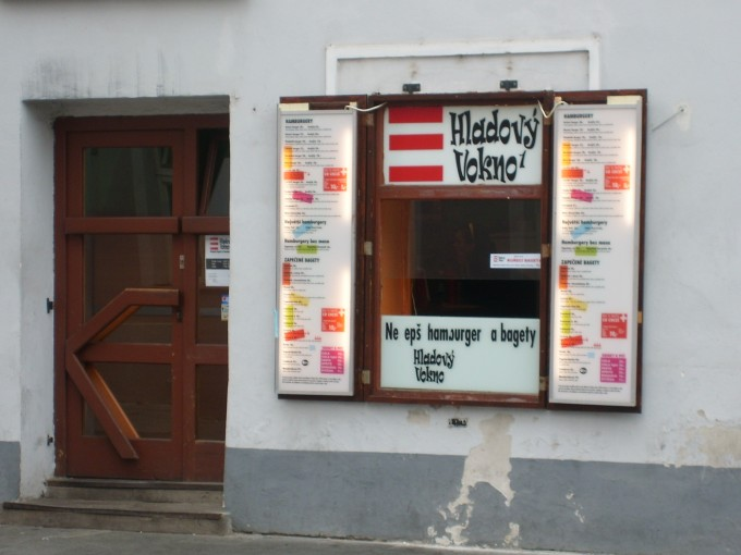 Hladový Vokno is already opened in the afternoon.