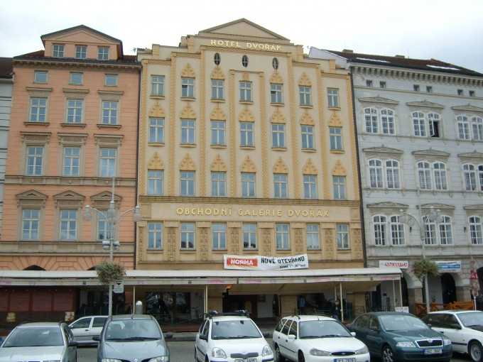 Hotel Dvořák as a part of the shopping centre Dvořák