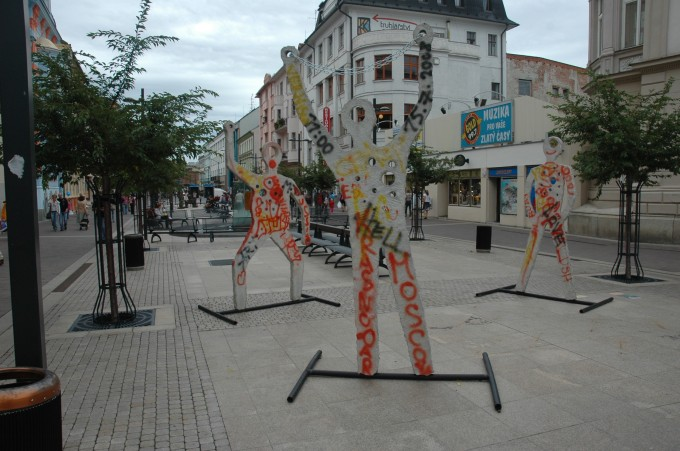 Interesting statues at the beginning of Lannova Street
